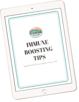 iPad with Immune Boosting Tips Guide