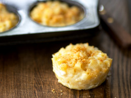 Lower Fat Muffin Cup Macaroni and Cheese