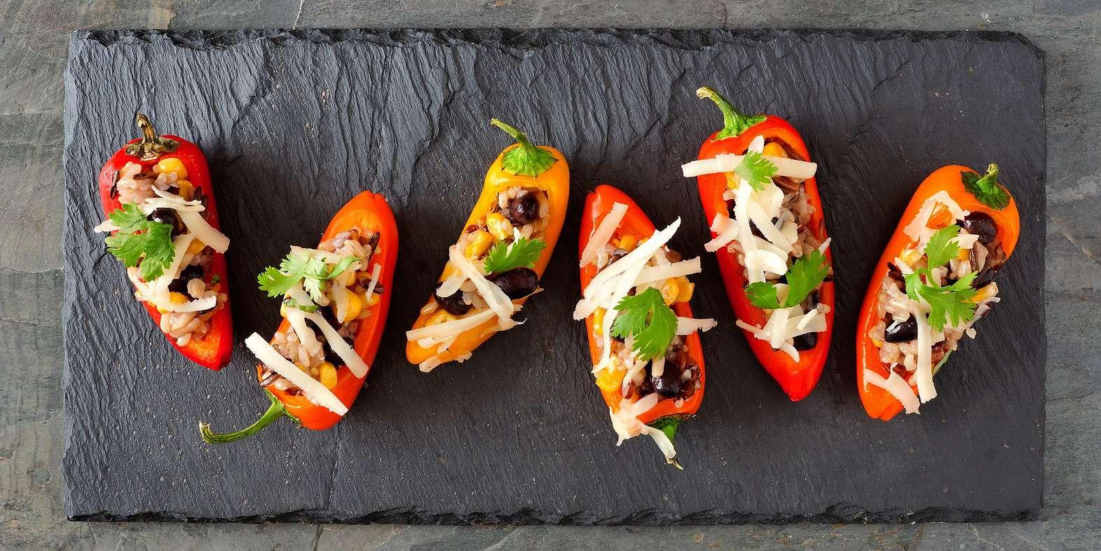 Mini Bell Pepper Nachos
